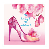 Pretty Petal Shoe Premium Giclee Print by Colleen Sarah
