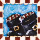 Santa Boots Prints by Karen Lucchese