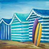 Beach Cabana I Prints by Patricia Quintero-Pinto