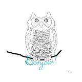 Bonjour Owl Reproduction giclée Premium par Marion De Lauzun
