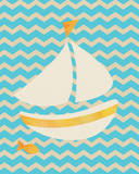 Nautical Boat Art by Tiffany Everett