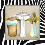 Zebra Bath II Prints by Elizabeth Medley