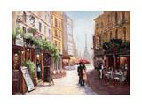 Parisienne Romance Premium Giclee Print by  Art Atelier Alliance