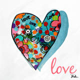 Hearts of Love & Hope II Prints by Patricia Quintero-Pinto