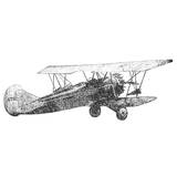 Antique Plane Sketch I Prints by Merri Pattinian