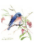 Blue Bird 8 Poster af Suren Nersisyan