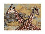 Safari Giraffes Premium Giclee Print by Madelaine Morris