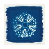Cyan Blue Urchin Premium Giclee Print by Christine Caldwell