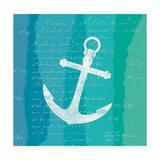 Ombre Ocean Anchor Premium Giclee Print by Meili Van Andel