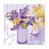 Lilac Mason Jar Bouquet Premium Giclee Print