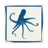Cyan Octopus Premium Giclee Print by Christine Caldwell