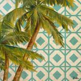 Beach Palm Turquoise Pattern I Poster von Patricia Quintero-Pinto