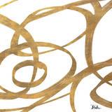 Golden Swirls Square I Poster von Patricia Quintero-Pinto