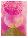Golden Pink Poster by Paula Mills