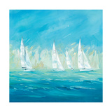 Perfect Day for a Regatta Premium Giclee Print by Naula Whales