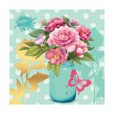 Mint Mason Jar Bouquet Premium Giclee Print