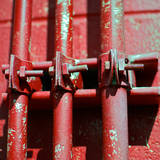 Pipes Square II Prints by Gail Peck