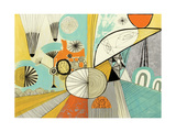 Jazzy Stuff Premium Giclee Print by Richard Faust