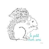 Le Petit Mon Ami Squirrel Premium Giclee Print by Marion De Lauzun