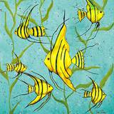 School of Fish III Prints by Gina Ritter