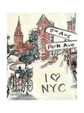 Artist's New York Premium Giclee Print by Edith Lentz