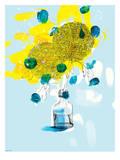 Yellow Flowers Print by Paula Mills
