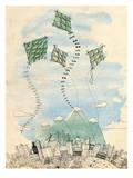 Four Happy Kites Art by Paula Mills