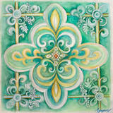 French Medallion III Prints by Janice Gaynor