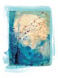 Blue Collage Archival Kunstdrucke von Paula Mills