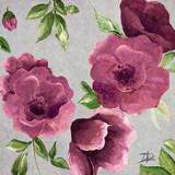 Gray & Plum Florals II Poster by Patricia Quintero-Pinto