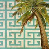 Beach Palm Turquoise Pattern II Kunst von Patricia Quintero-Pinto