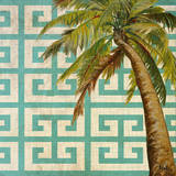 Beach Palm Turquoise Pattern II Prints by Patricia Quintero-Pinto