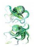 Green Octopuse Posters by Suren Nersisyan
