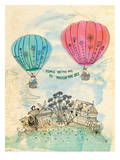 Touch The Sky Blue And Read Giclee Print by Paula Mills