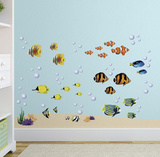 Bright Coral Reef Wall Decal