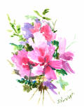 Roses Of Sharon Print by Suren Nersisyan