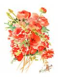 Buttercups, Ranunculus Print by Suren Nersisyan