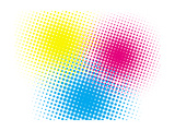 Cmyk Halftone Texture on White Posters by  oriontrail2