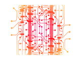 Illustration of Computer Circuit Board Prints by  oriontrail2