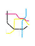 Modern City Subway Map Prints by  oriontrail2