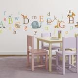 Alfabeto degli animali classico (sticker murale) Decalcomania da muro