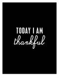 Today I Am Thankful Poster by Brett Wilson