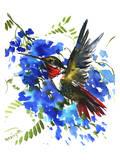 Hummingbird 7 Print by Suren Nersisyan