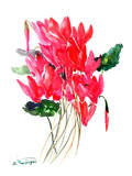 Red Cyclamen Posters by Suren Nersisyan