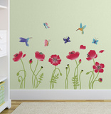Radiant Poppies Wallstickers