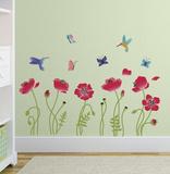 Papaveri colorati (sticker murale) Decalcomania da muro