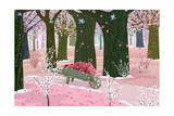 Spring Pink Forest Poster by  Milovelen