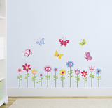 Bright Butterfly Garden Muursticker