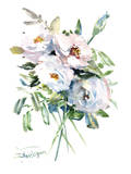White Roses Prints by Suren Nersisyan