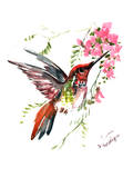 Hummingbird 3 Posters by Suren Nersisyan